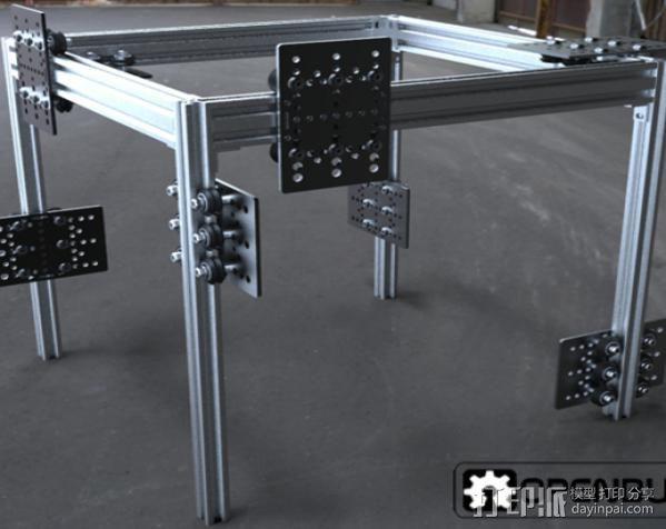 V字槽模块化框架系统 3D模型  图4