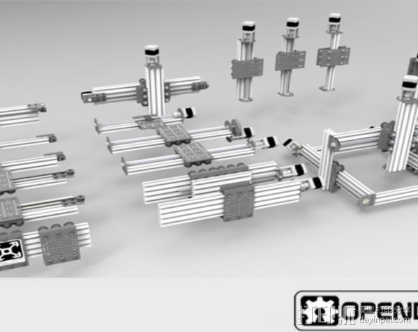 V字槽模块化框架系统 3D模型  图8