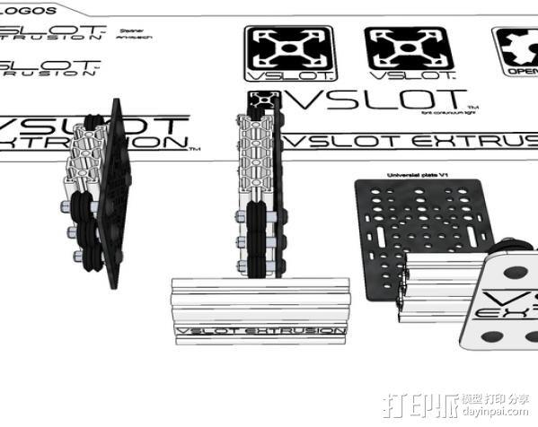 V字槽模块化框架系统 3D模型  图15