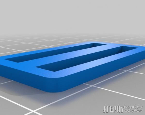 定制化日字扣  3D模型  图5