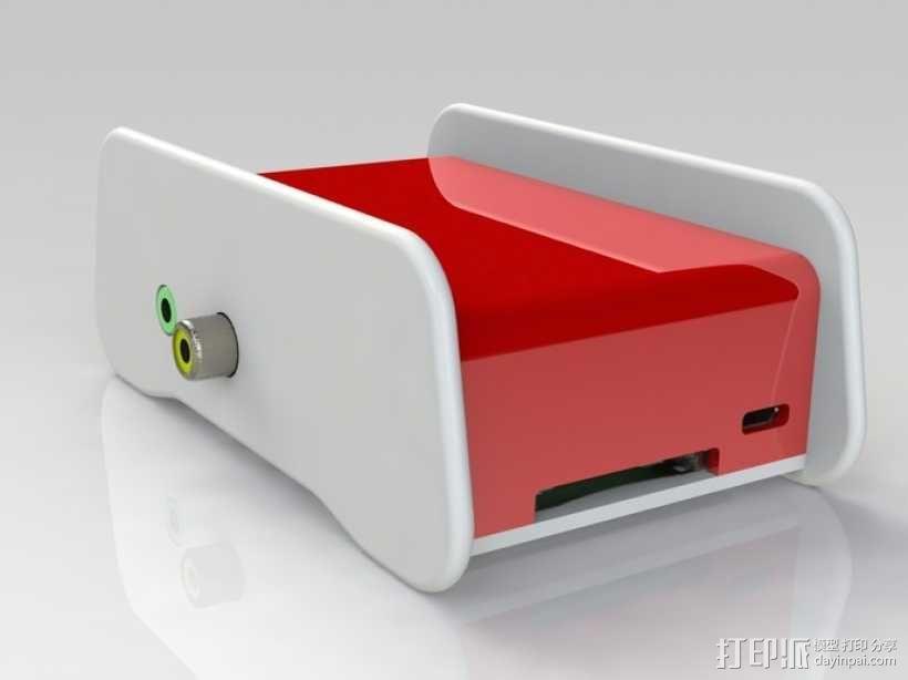 树莓派外壳 3D模型  图2