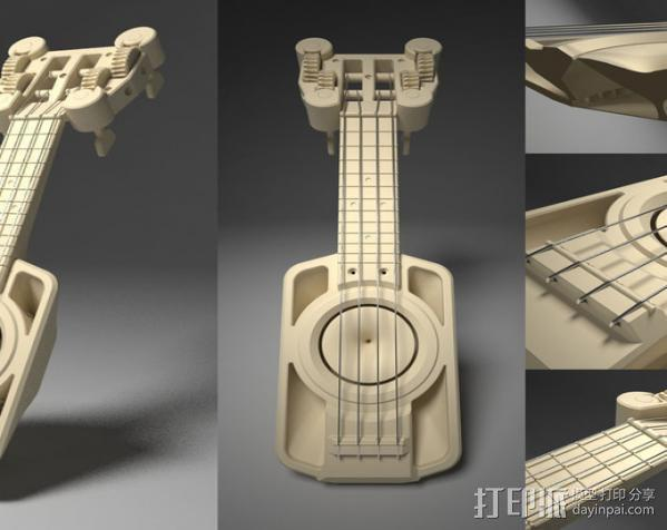 全打印尤克里里 3D模型  图4