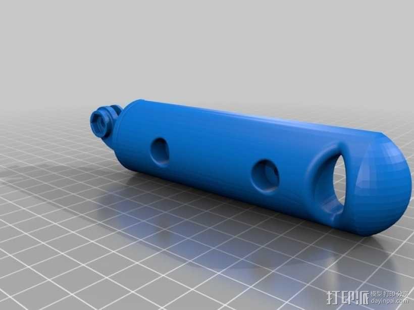 Gopro操作杆 3D模型  图1