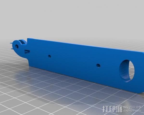 Gopro操作杆 3D模型  图2