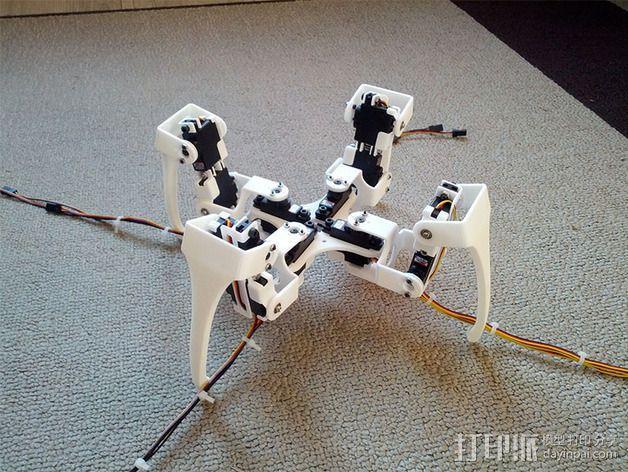 四足步行机器人 3D模型  图2