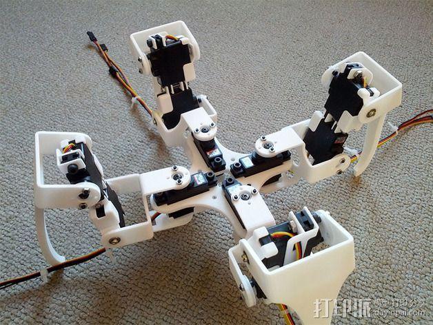 四足步行机器人 3D模型  图3
