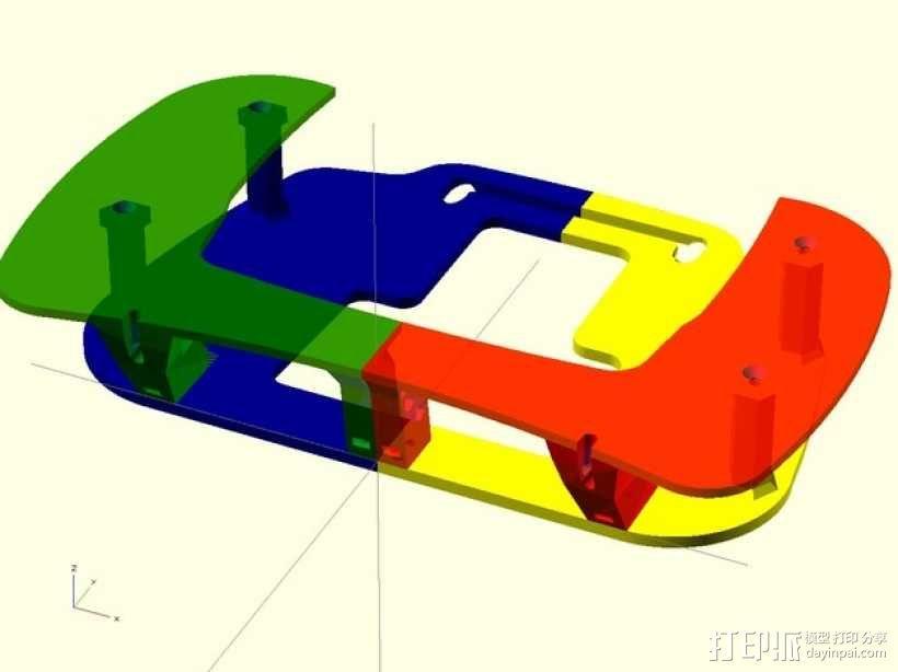 飞机遥控器 托架 3D模型  图11