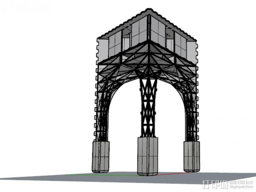 三角小凳 3D模型  图5