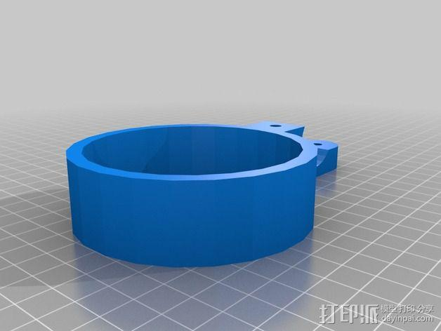 自行车把手 杯架  3D模型  图2