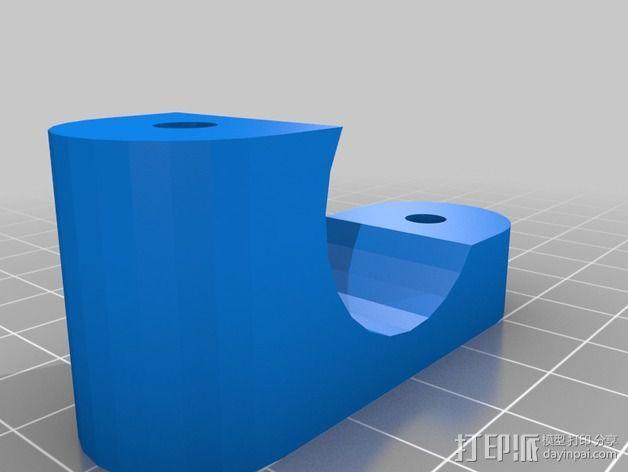 自行车把手 杯架  3D模型  图3