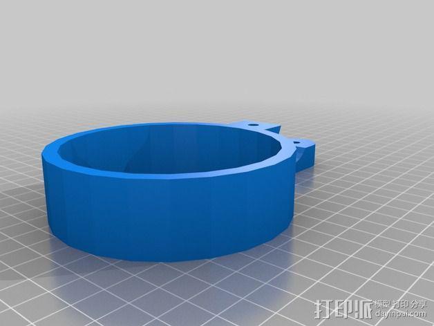 自行车把手 杯架  3D模型  图4