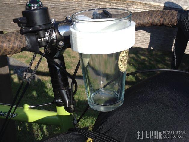 自行车把手 杯架  3D模型  图5