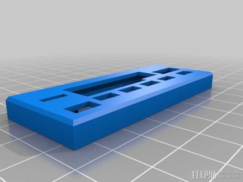 汽车收音机/盒式磁带  数字面板  3D模型  图2