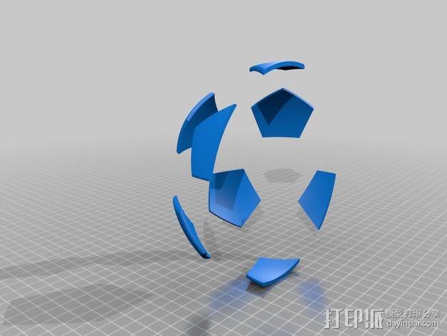 足球奖杯 3D模型  图2