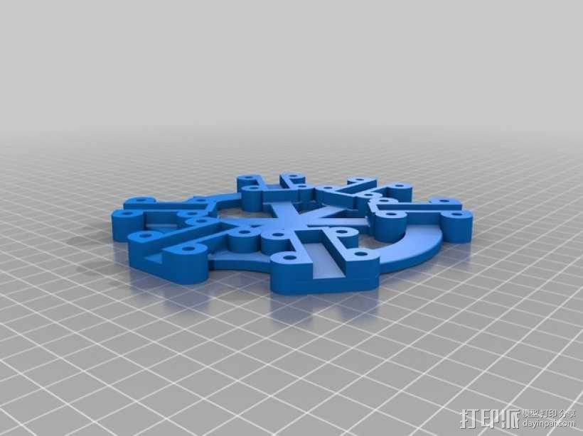 六轴飞行器/四轴飞行器 中心板  3D模型  图1