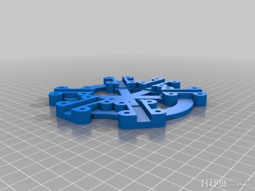 六轴飞行器/四轴飞行器 中心板  3D模型  图2