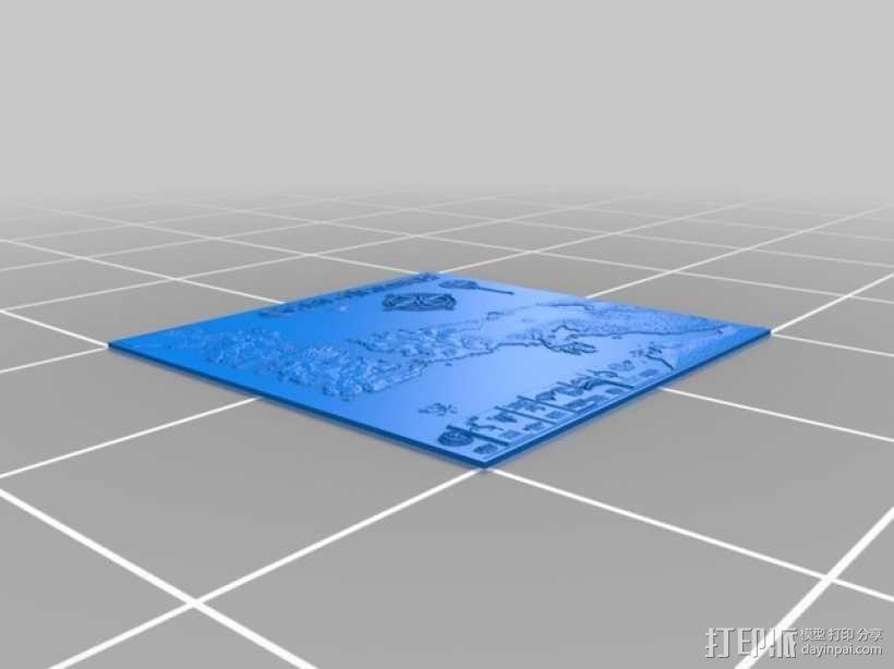 《权力的游戏》地图 3D模型  图1