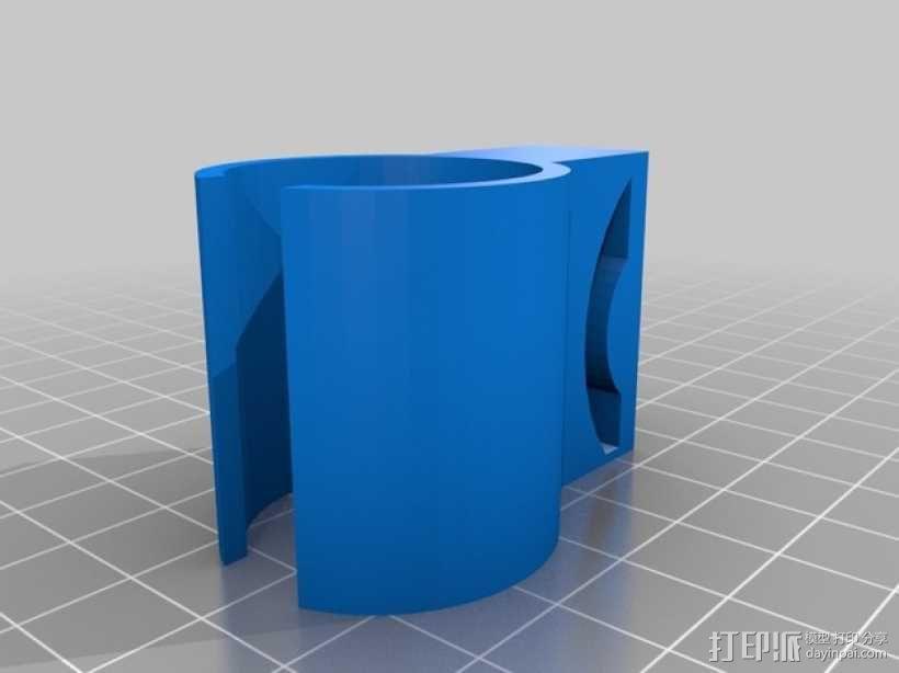 呼吸管固定扣 3D模型  图2