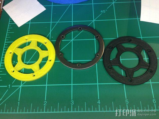 遥控汽车轮胎卡环  3D模型  图1