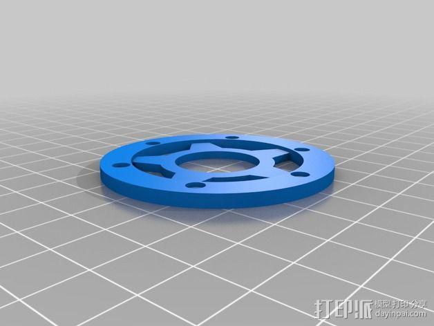 遥控汽车轮胎卡环  3D模型  图2