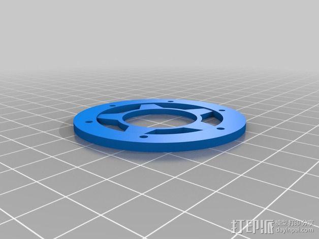 遥控汽车轮胎卡环  3D模型  图3
