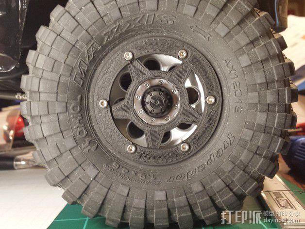 遥控汽车轮胎卡环  3D模型  图5