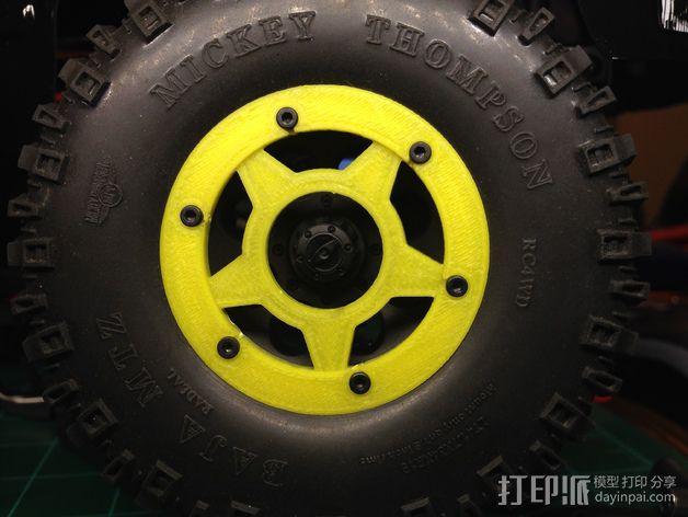 遥控汽车轮胎卡环  3D模型  图4