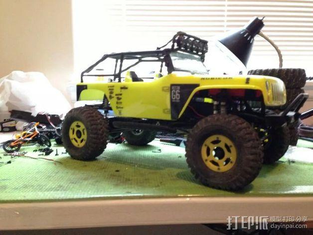 遥控汽车轮胎卡环  3D模型  图6