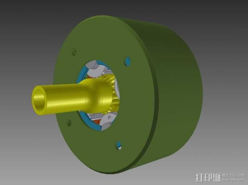 行星齿轮变速器 3D模型  图1
