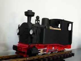 火车头 3D模型