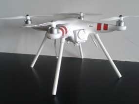 DJI Phantom 1四轴飞行器 起落架 3D模型