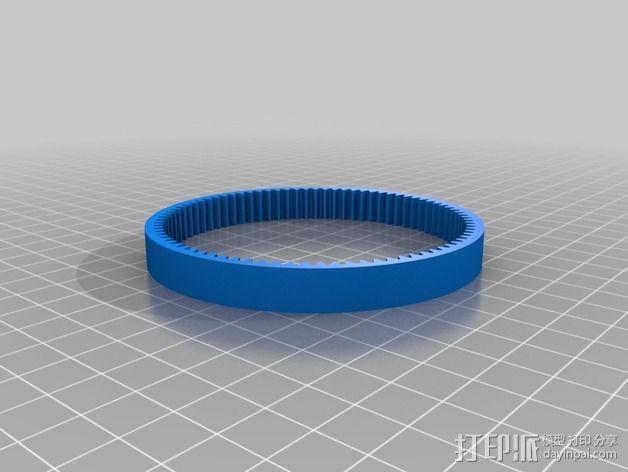 谐波驱动 3D模型  图2