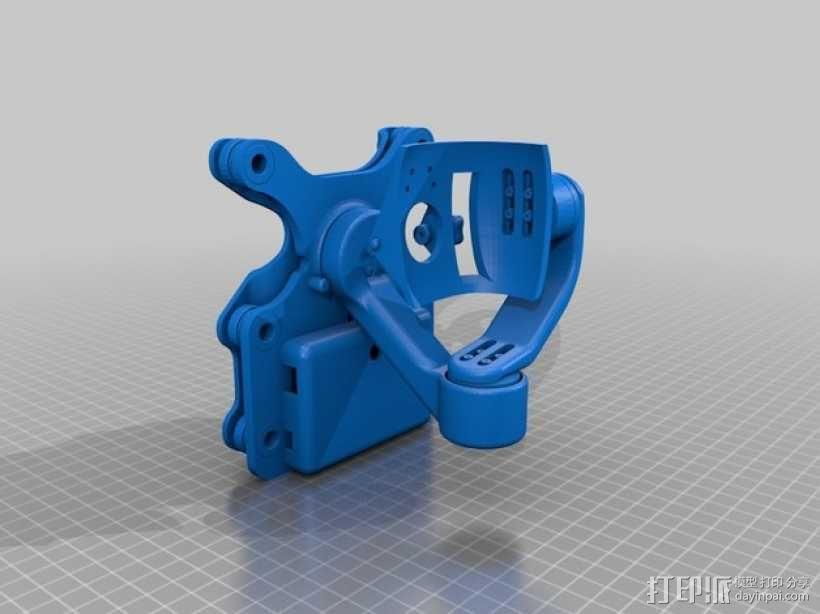 DJI Phantom 2摄像机3D平衡环 3D模型  图3