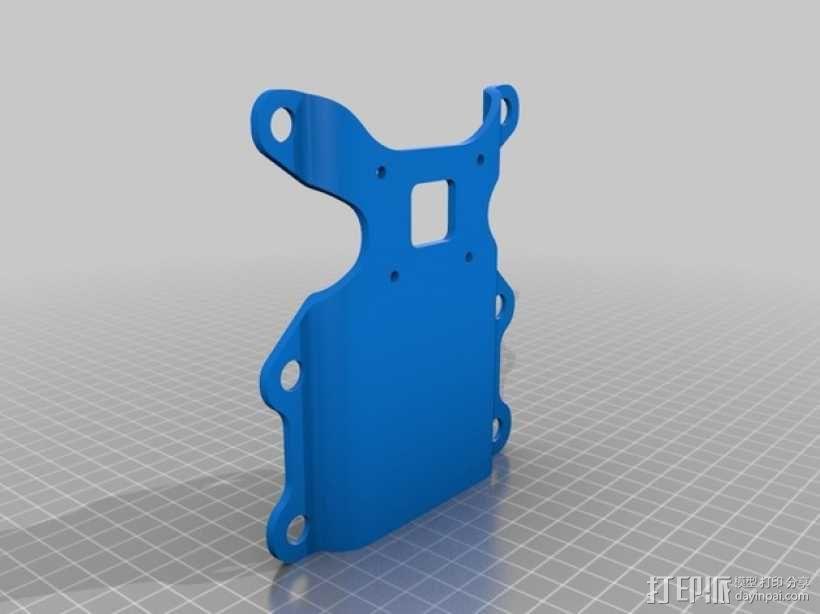 DJI Phantom 2摄像机3D平衡环 3D模型  图4