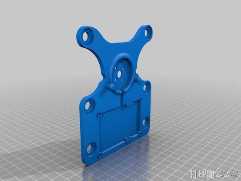 DJI Phantom 2摄像机3D平衡环 3D模型  图7