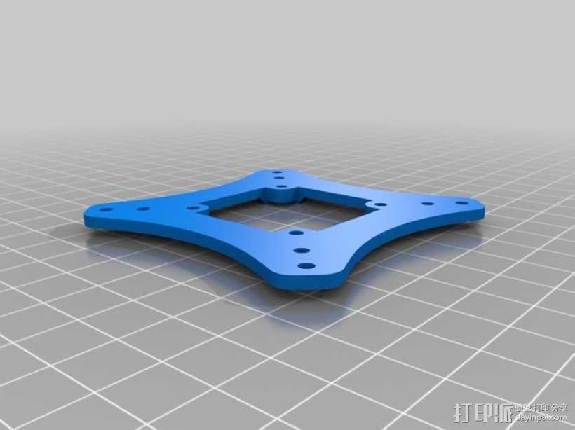 迷你四轴飞行器框架 3D模型  图2
