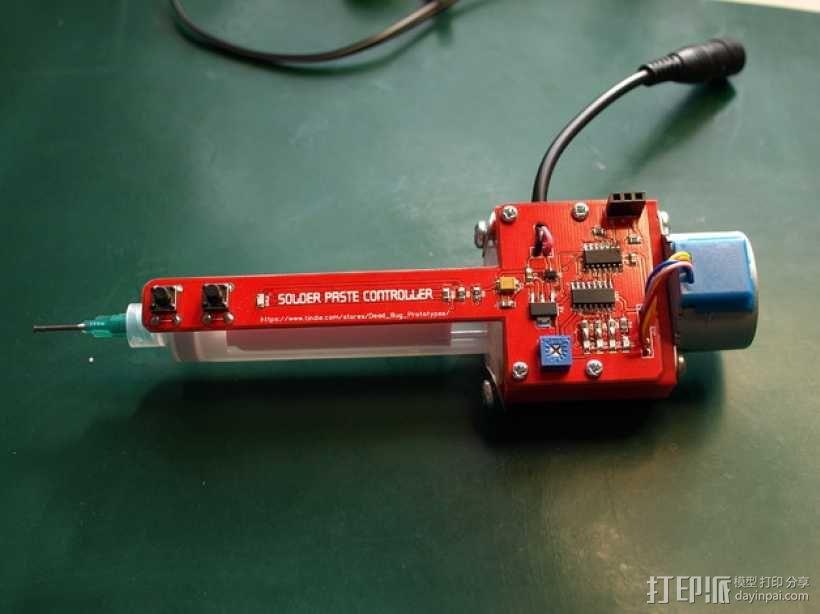 焊锡膏 点胶机 零部件 3D模型  图1