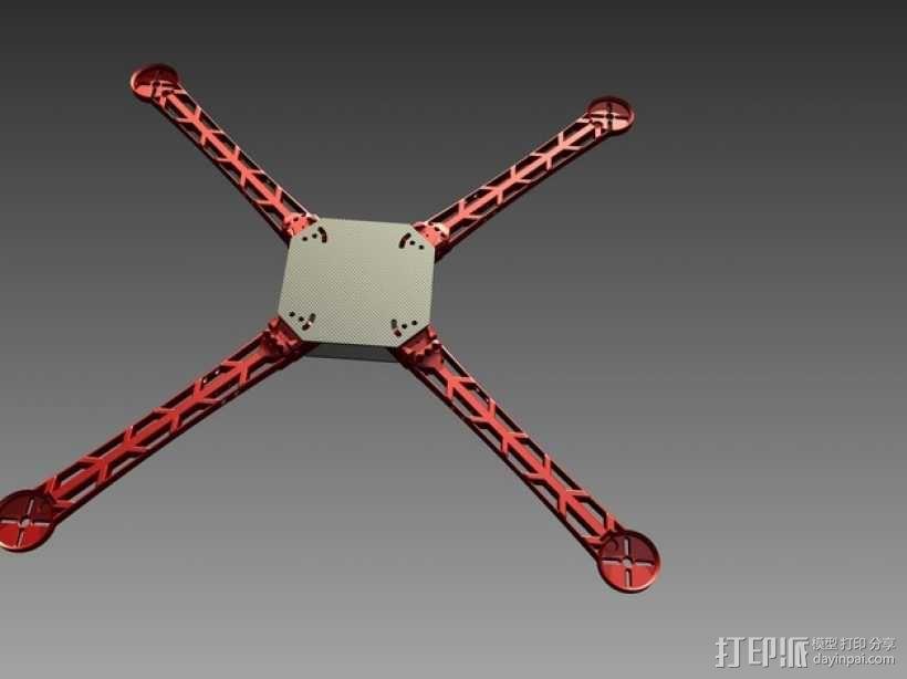 3D打印四轴飞行器 3D模型  图1