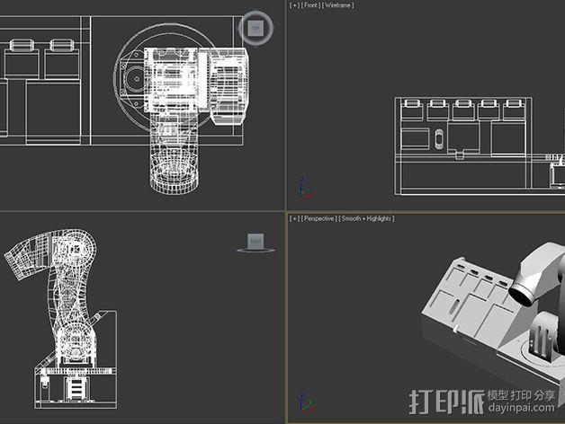 机械臂 3D模型  图8