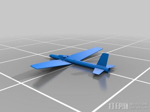 地对空火箭 滑翔机  3D模型  图3