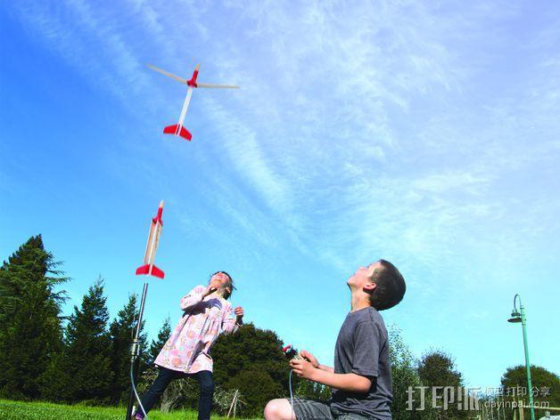 地对空火箭 滑翔机  3D模型  图4