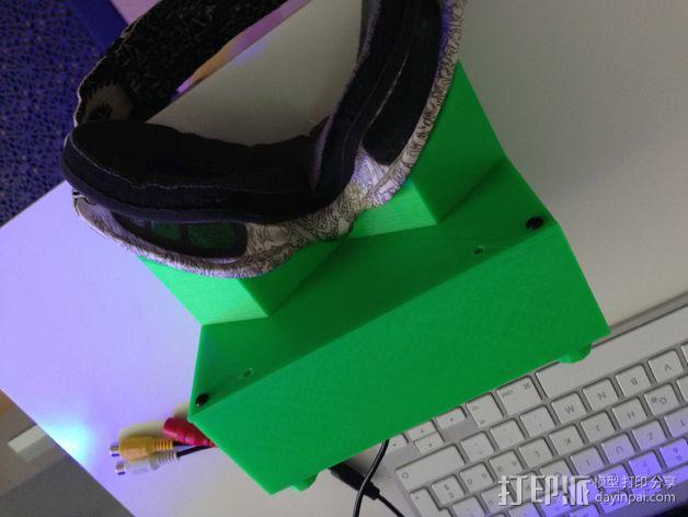 FPV谷歌眼镜 3D模型  图5