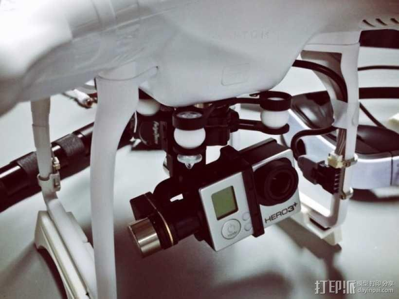 DJI Phantom 四轴飞行器 起落架 3D模型  图4