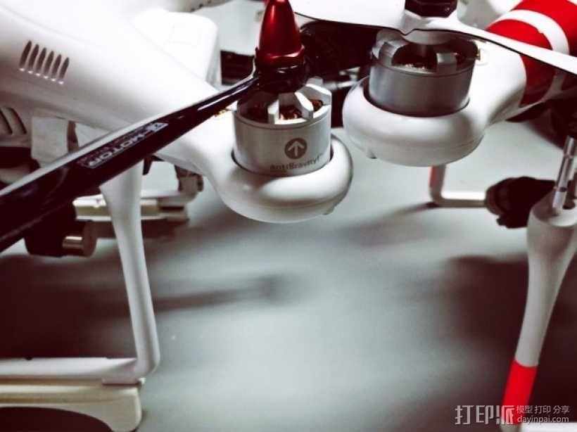 DJI Phantom 四轴飞行器 起落架 3D模型  图5