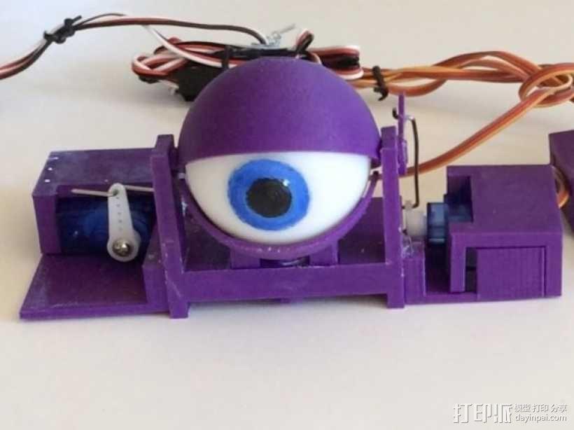 电子仿生眼 3D模型  图1