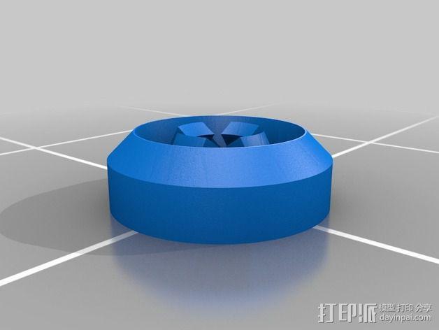 推入配合 塑胶铆钉  3D模型  图2