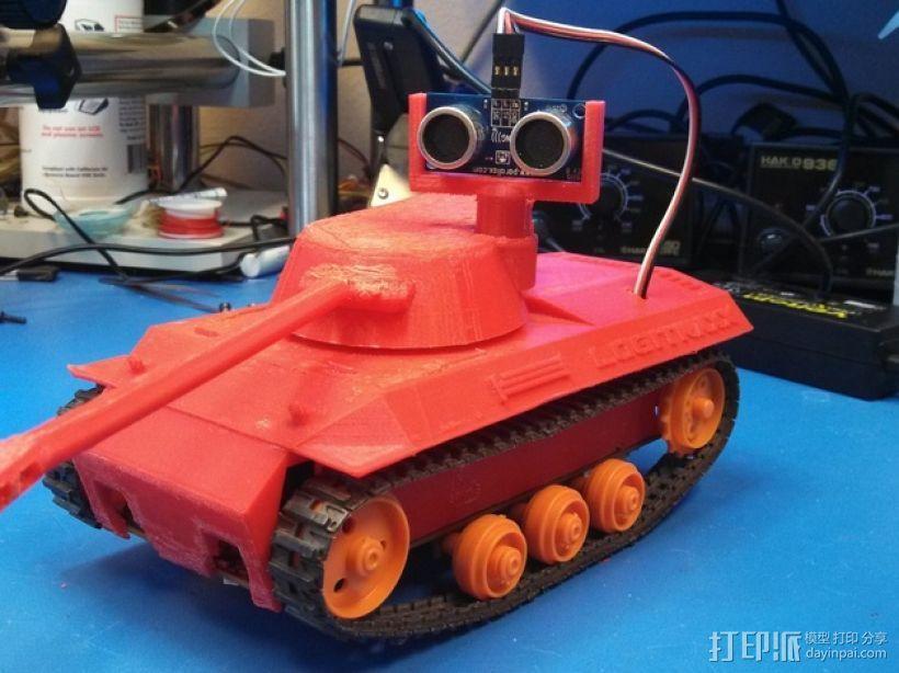 Logitraxx履带式坦克机器人 3D模型  图1