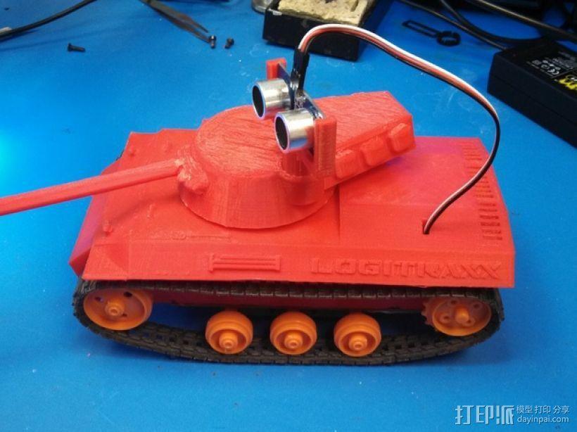 Logitraxx履带式坦克机器人 3D模型  图2