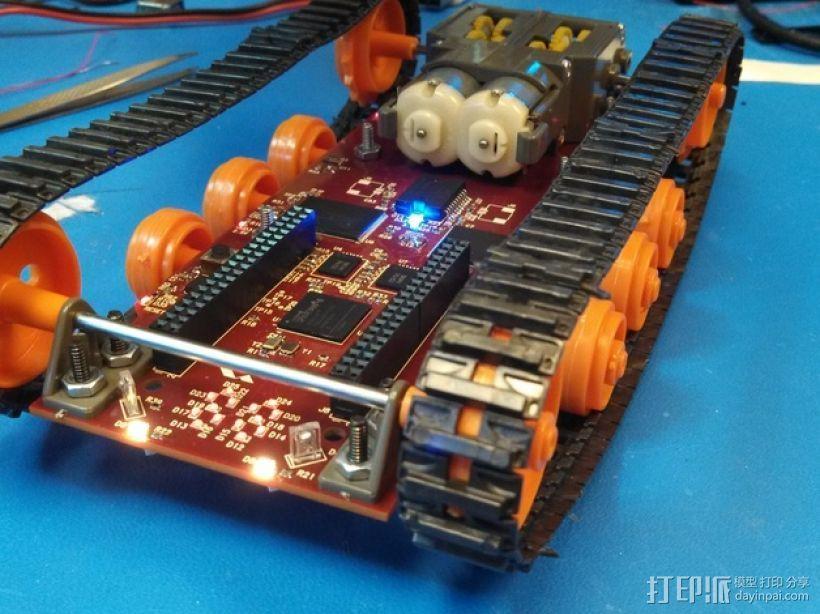 Logitraxx履带式坦克机器人 3D模型  图3