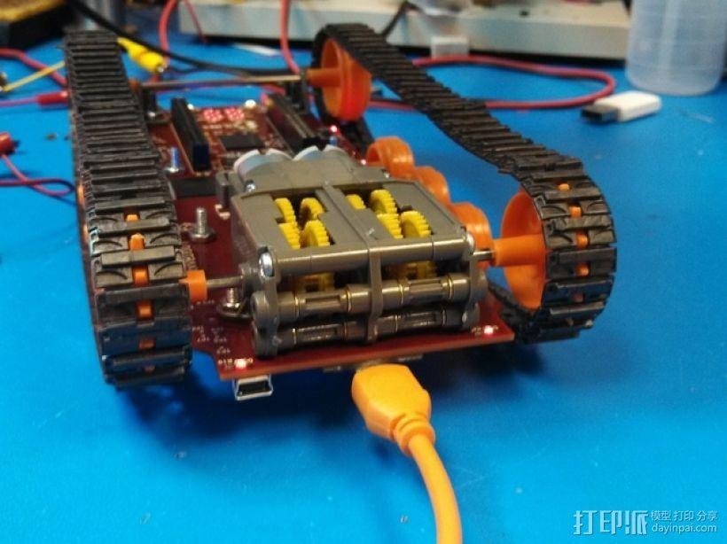 Logitraxx履带式坦克机器人 3D模型  图4